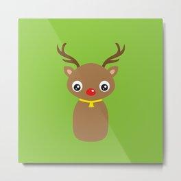 Red Nosed Reindeer Metal Print