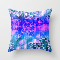 hawaiian Throw Pillows featuring Hawaiian Holiday by Vikki Salmela