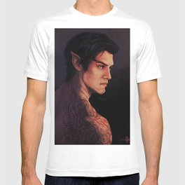 Rhysand Rhys Court of Thorns and Roses portrait T-shirt