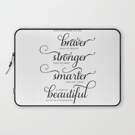 Always Remember - Printable art wall decor, Inspirational quote Laptop Sleeve