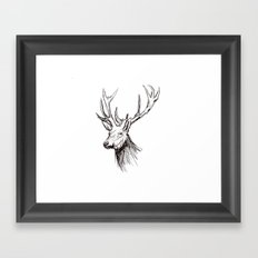 Deer - digital Framed Art Print