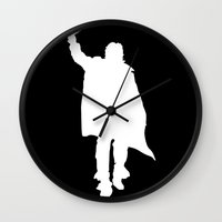breakfast club Wall Clocks featuring Breakfast Club: The John Bender by InvaderDig