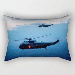Support Helicopters Fly at Dusk Rectangular Pillow
