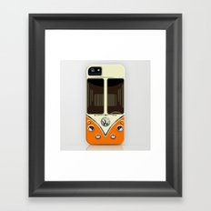 Sale for charity! Orange VW volkswagen mini van bus kombi camper iphone 4 4s 5 5c & galaxy s4 case Framed Art Print