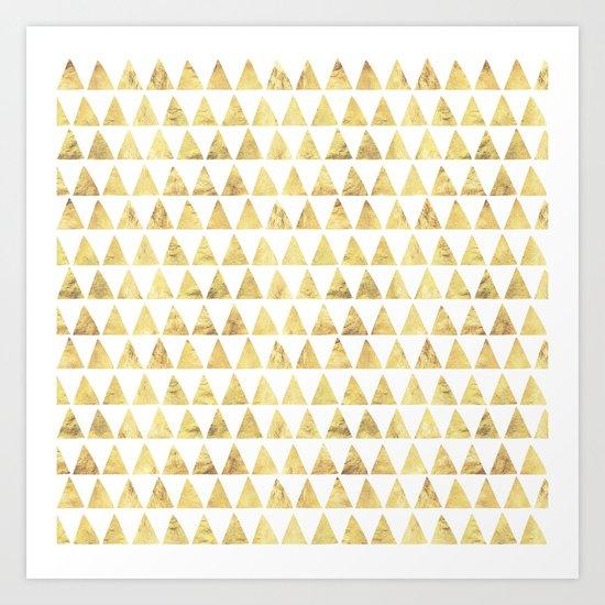 Triangles gold 6 Art Print