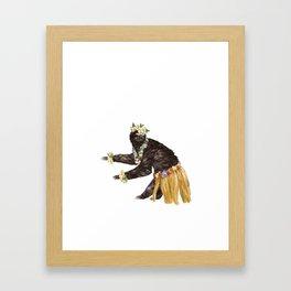 Sloth the Hawaiian Dancer Framed Art Print