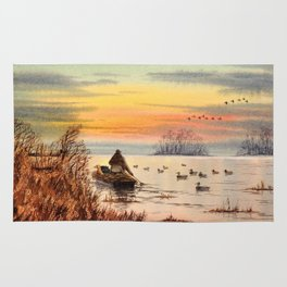 A Great Day For Hunting Ducks Rug