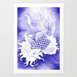 Ballpoint pen Koi Art Print