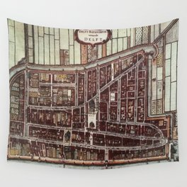 Replica city map of Delft 1649 Wall Tapestry