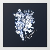 digimon Canvas Prints featuring Digimon Memories by Cursed Rose