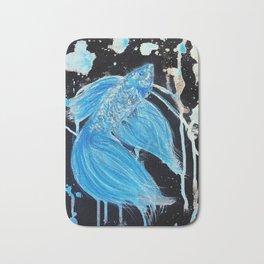Blue Splatter Drip Betta Bath Mat