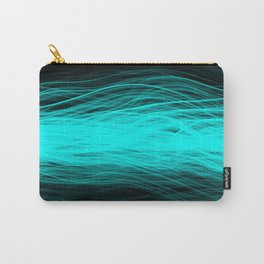 Electric Aqua Carry-All Pouch