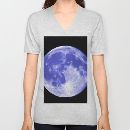 Blue Moon looks like Earth Unisex V-Neck