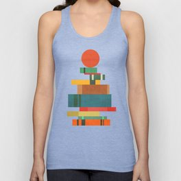 Book stack with a ball Unisex Tank Top