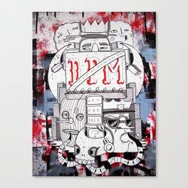Schizophrenic society Canvas Print