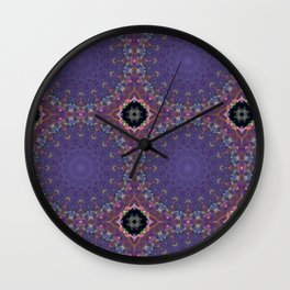 Collaged Pattern 1 Wall Clock