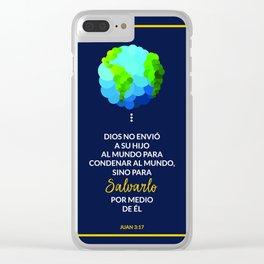 Dios salva el mundo Clear iPhone Case