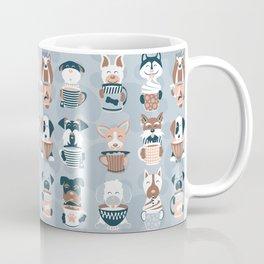 Doggie Coffee and Tea Time I // blue grey Coffee Mug