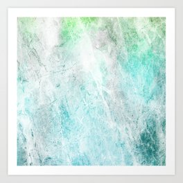 Mint Green Abstract Art Print