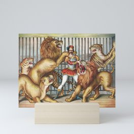The Lion Tamer - Vintage Circus Art, 1873 Mini Art Print