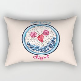 Food Pun - Feeling Berry Chiaful Rectangular Pillow