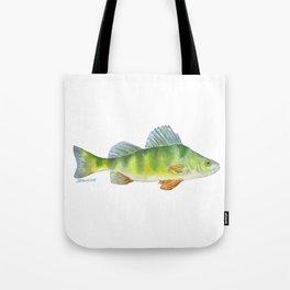 Perch Fish Watercolor Tote Bag