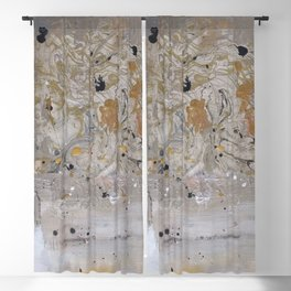 Silver and Gold Abstract Blackout Curtain