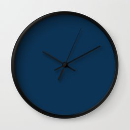 Prussian Blue Solid Color Wall Clock