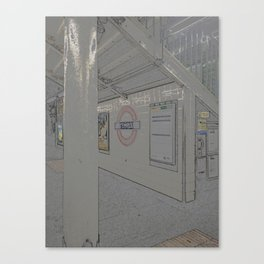 Temple station London 5 Canvas Print