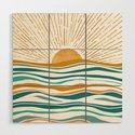 The Sun and The Sea - Gold and Teal by kristiangallagher