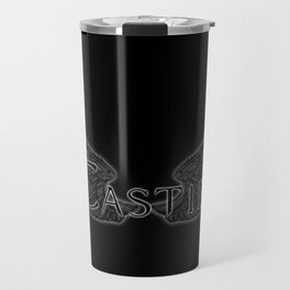 Castiel with Wings Black Travel Mug