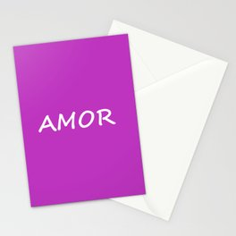 Amor, Spanish Love Stationery Cards