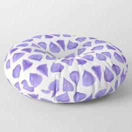 Teardrop Pattern Brush Graphic Artwork Ultra Violet Love Floor Pillow