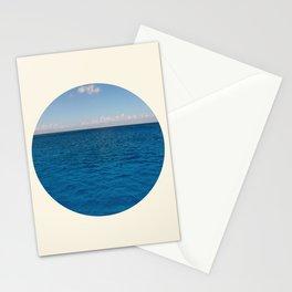 Water & Sky Horizon Round Photo Stationery Cards
