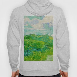 Field with Green Wheat 1890 Oil Painting By Vincent Van Gogh Hoody