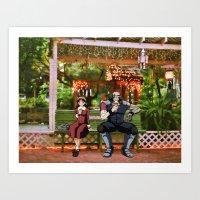 cowboy bebop Art Prints featuring Meifa & Jet Black (cowboy bebop) St.petersburg FL) by Jackobi Austin