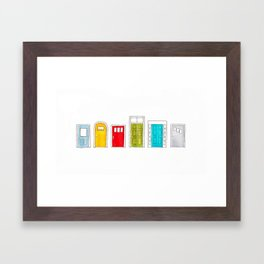 A Colorful Welcome Framed Art Print