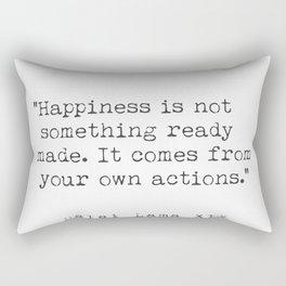 Dalai Lama Happiness Rectangular Pillow