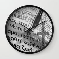 bible Wall Clocks featuring Multilingual Bible Study by Clayton Jones