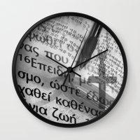 bible Wall Clocks featuring Multilingual Bible Study by Clayton Jones