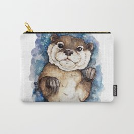 Watercolor Otter Carry-All Pouch