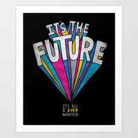 future Art Prints featuring The Future by Chris Piascik