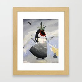 Lonely Water Woman Framed Art Print