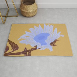 Sunflower - blue palette  Rug