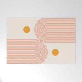 Abstraction_SUN_DOUBLE_LINE_POP_ART_Minimalism_001C Welcome Mat