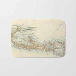 Vintage Map of Bermuda (1872) Bath Mat