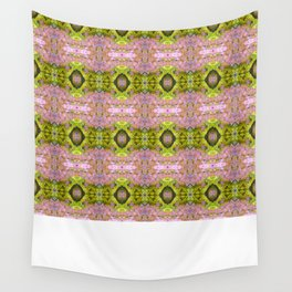 Eccentric purple and yellow pattern Wall Tapestry