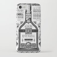 lotr iPhone & iPod Cases featuring Lord of the Rings Rivendell Vineyards Vintage Ad by Barrett Biggers