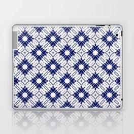 Watercolor Shibori Blue Laptop & iPad Skin