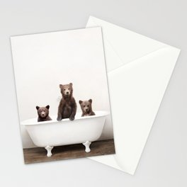 3 Little Bears in a Vintage Bathtub (c) Stationery Cards